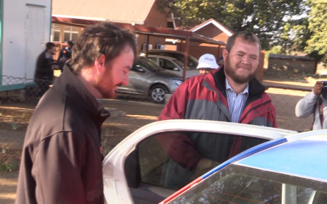 FILE: Pieter Doorewaard and Philip Schutte leaving the Coligny magistrates court. Picture: EWN