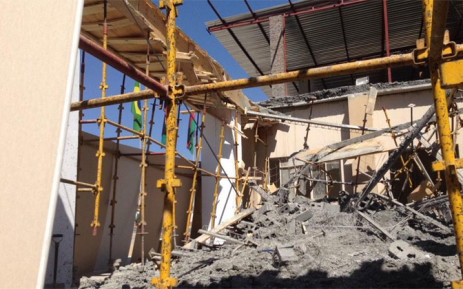 A wall collapsed at the Alleluia Ministries International church in Lyndhurst on 8 October 2014. Picture: Reinart Toerien/EWN.