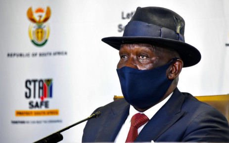 Police Minister Bheki Cele during nedia briefing where he gave deatil on policing during the COVID-19 lockdown. Tuesday, 22 September 2020: Picture: Twitter/@GovernmentZA