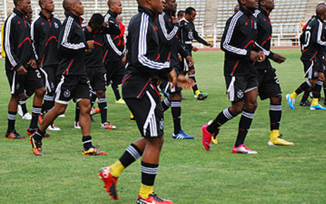 Orlando Pirates during a training session at Johannesburg Stadium. Picture: Taurai Maduna/Eyewitness News