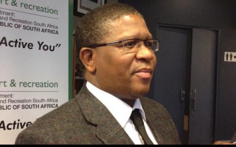 Sports Minister Fikile Mbalula