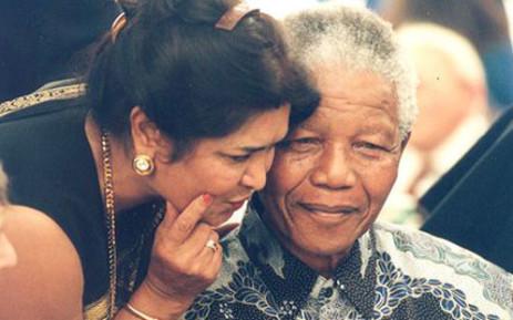 Amina Cachalia and Nelson Mandela. Picture: Nelson Mandela Centre of Memory