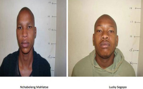 Nchabaleng Mahlatse and Lucky Segopo shot two policemen as they escaped from Pretoria Regional Court. Picture: Barry Bateman/EWN.