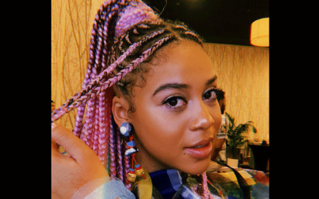 South African singer Sho Madjozi at the 2019 BET Awards in Los Angeles. Picture: @ShoMadjozi/Twitter.