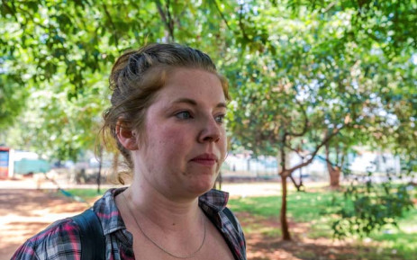 This file photo taken on 4 November 2017 shows US citizen, Martha O'Donovan, who was arrested for undermining the authority of Zimbabwe President Robert Mugabe on Twitter, arriving at Harare Magistrate's Court in Harare. Picture: AFP