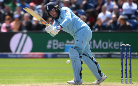 England's Jason Roy plays a shot during the 2019 Cricket World Cup group stage match between England and Bangladesh at Sophia Gardens stadium in Cardiff, south Wales, on 8 June 2019. Picture: AFP