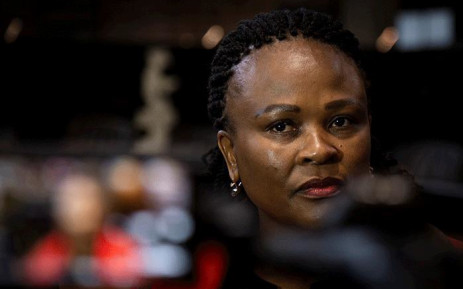 Public Protector Busisiwe Mkhwebane at the Constitutional Court in Johannesburg on 22 July 2019. Picture: Sethembiso Zulu/EWN