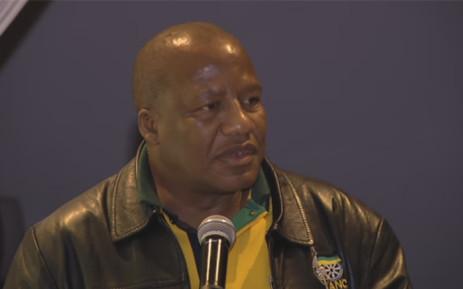 YouTube screengrab of ANC chief whip Jackson Mthembu.