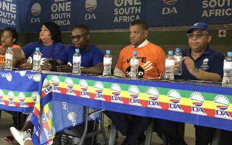DA Western Cape leader Bonginkosi Madikizela welcomes new members to the party on 10 November 2019. Some of the new members have made the switch from Patricia de Lille's Good party. Picture: Lauren Isaacs/EWN
