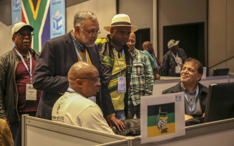 ANC Western Cape elections head Ebrahim Rasool and other members of the party monitor results at the IEC results centre in Cape Town. Picture: Cindy Archillies/EWN