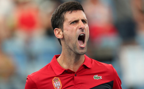 Serbia's Novak Djokovic celebrates a win during his ATP Cup match against Canada's Denis Shapovalov on 10 January 2020. Picture: @ATPCup/Twitter
