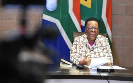 FILE: International Relations and Cooperation Minister Naledi Pandor at a press briefing on 21 May 2020 in Pretoria on her department's repatriation process of South Africans stranded abroad due to COVID-19 lockdowns. Picture: @DIRCO_ZA/Twitter.