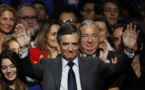 FILE: Francois Fillon (C). Picture :AFP.