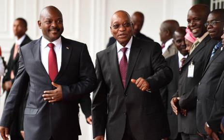 President Jacob Zuma receives the President of the of Burundi, Pierre Nkurunziza on 4 November 2014. Picture: GCIS