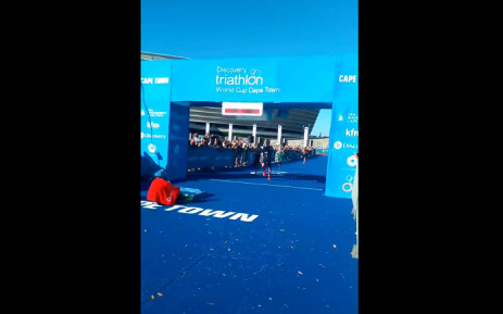 Triathlon World Cup Cape Town winner Alex Yee. Picture: Ayanda Felem.