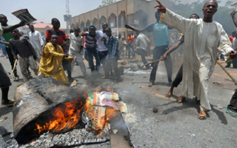 People demonstrate in Nigeria's northern city of Kano where running battles broke out between protesters and soldiers. Picture: AFP