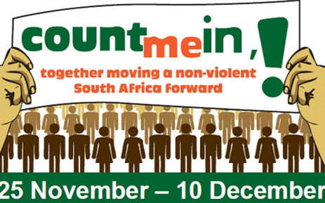 The logo for this year's 16 Days of activism for no violence against women and children. Picture: Supplied