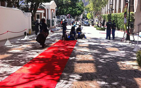 FILE: Rolling out the red carpet for the State of the Nation Address on 14 February 2013. Picture: Renee de Villiers/EWN.