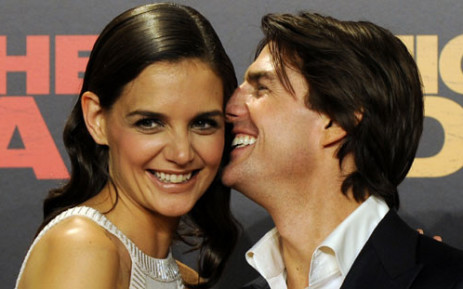 US actors Tom Cruise and his wife Katie Holmes in happier times. Picture: AFP
