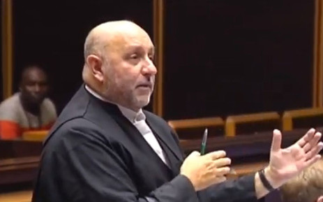 A YouTube screengrab shows the lawyer for French arms company Thales, Advocate Anton Katz in the Pietermaritzburg High Court on 24 May 2019.