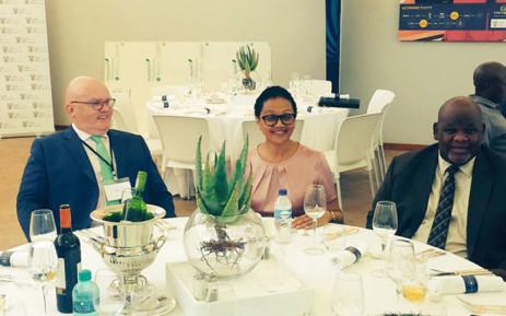 Tina Joemat-Pettersson is attending the launch of the solar capital solar power farm in De Aar. Picture: Siyabonga Sesant/EWN.