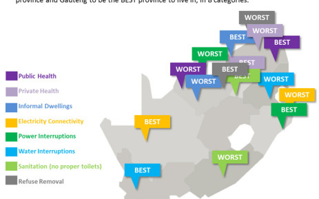 Which South African provinces are the best and worst to live in? Statistics from the 2012 General Household Survey can help you decide. Graphic: EWN