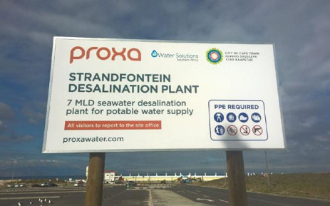 The desalination plant under construction at Strandfontein. Picture: Zunaid Ismael/EWN
