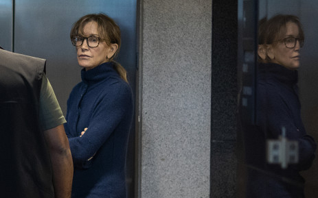FILE: Actress Felicity Huffman is seen inside the Edward R. Roybal Federal Building and US Courthouse in Los Angeles, on 12 March 2019. Picture: AFP