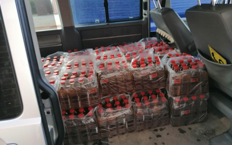 A truck driver (40) was arrested at roadblock with liquor in Kinkelbos on 30 July 2020 and charged under the regulations of the Disaster Management Act. Picture: Twitter/@SAPoliceService