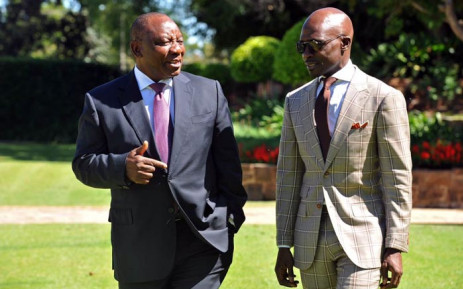 FILE: Malusi Gigaba briefing President Cyril Ramaphosa on his scheduled visit to the US to showcase the country. Picture: @MTshwete/Twitter