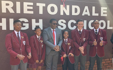 Gauteng Education MEC Panyaza Lesufi on 23 August 2019 officially renamed Hoërskool Hendrik Verwoerd to Rietondale Secondary School. Picture: @EducationGP/Twitter.