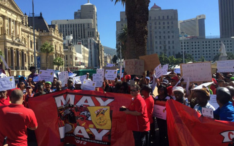 South African Post Office workers protest on 5 May 2016. Picture: Xolani Koyana/EWN.
