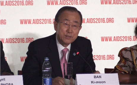 FILE: UN Secretary General Ban Ki-moon during a press conference at this year's Durban International Aids Conference. Picture: Kgothatso Mogale/EWN.
