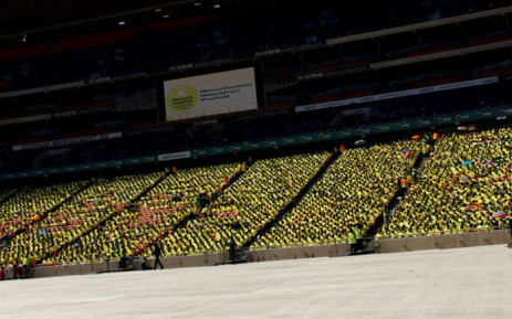 Congregants attend the Motsepe Foundation's National Prayer Day on 26 November 2017 at the FNB Stadium in Soweto, Johannesburg. Picture: @MotsepeFoundtn/Twitter