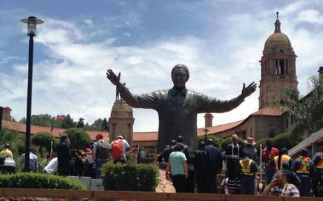 The nine-metre tall statue of former president Nelson Mandela unveiled on 13 December 2013. Picture: Reinart Toerien/EWN