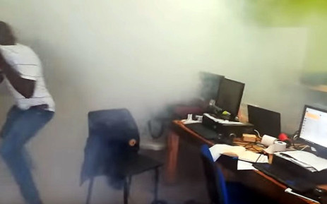 A screengrab shows the 263Chat newsroom where police used teargas on reporters.
