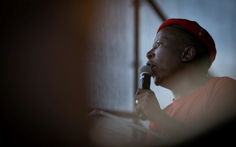 EFF leader Julius Malema addresses supporters during the red berets' May Day rally in Alexandra on 1 May 2019. Picture: Sethembiso Zulu/EWN