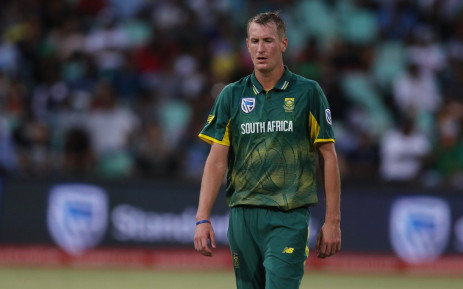 Proteas all-rounder Chris Morris in the third ODI in Cape Town. Picture: @OfficialCSA/Twitter