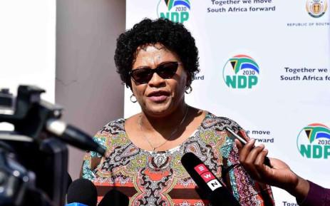 FILE: Environmental Affairs Minister Nomvula Mokonyane. Picture: @SAgovnews/Twitter