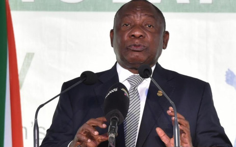 President Cyril Ramaphosa speaking to hundreds of people gathered in Vryburg in the North West for the National Women's Day commemoration on Friday, 9 August 2019. He said that government would ensure that the looming National Health Insurance (NHI) targeted women as its key beneficiaries. Picture: @PresidencyZA/Twitter