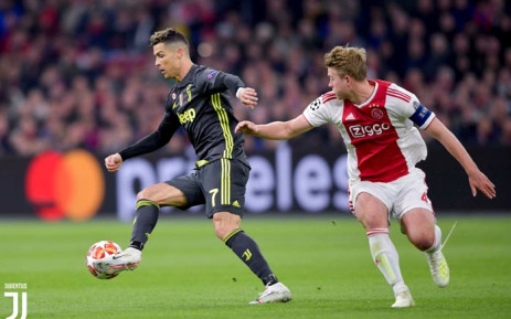Juventus' Cristiano Ronaldo in action during his team's Champions League quarterfinal clash against Ajax. Picture: @juventusfcen/Twitter.