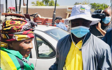 ANC deputy president David Mabuza on a door-to-door campaign trail in ward 25 in Mankweng, Limpopo, encouraging all eligible voters to vote for the party in the upcoming local government elections. Picture: @MYANC/Twitter.