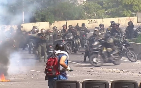 Venezuela, seven military officers were injured after an explosion. Picture: screengrab/CNN