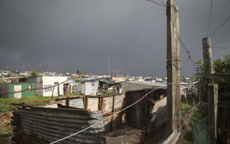 FILE: An informal settlement during a storm in Cape Town. Picture: EWN