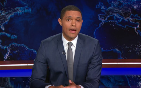A screengrab showing South African comedian and new host of The Daily Show, Trevor Noah, who marked a dream start to today on Comedy Central.