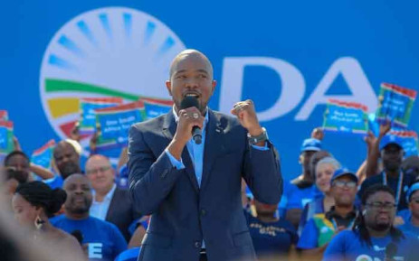 DA leader Mmusi Maimane at Dobsonville Stadium on 4 May 2019 for the party's final election rally. Picture: Kayleen Morgan /EWN