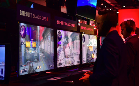 Gamers play the game 'Call of Duty: Black Ops' at the 24th Electronic Expo, or E3 2018, in Los Angeles, California on 12 June, 2018. Picture: AFP