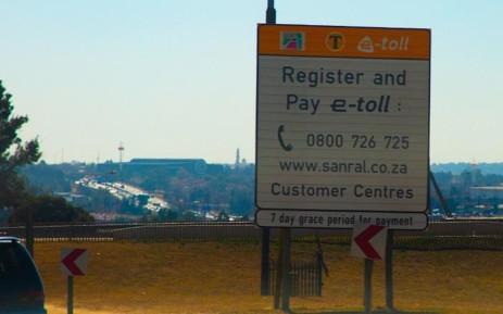 An e-tolls gantry. Picture: Xanderleigh Dookey/EWN.
