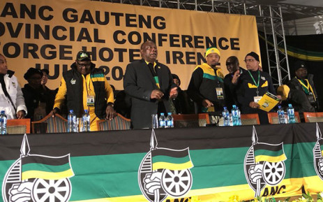ANC president Cyril Ramaphosa at the Gauteng ANC's elective conference in Irene, Pretoria on 20 July 2018. Picture: Qaanitah Hunter/EWN