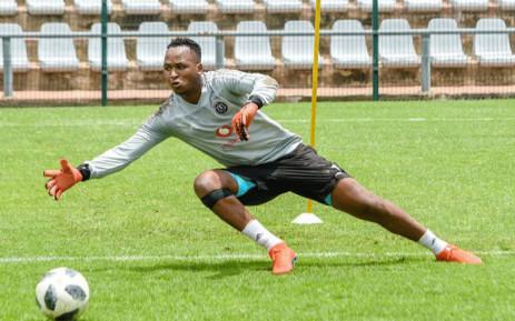 Orlando Pirates goalkeeper Brilliant Khuzwayo. Picture: orlandopiratesfc.com